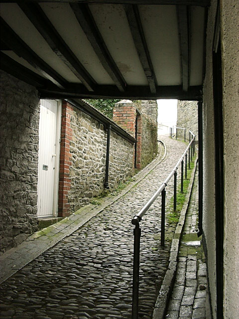 Cobbled Path  Builth Wells