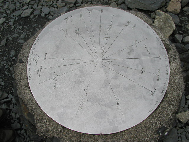 Plaque on top of Skiddaw