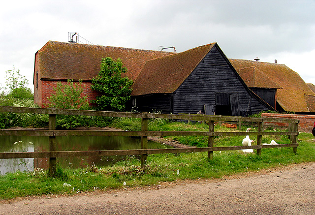 Eling Farm: Barn and Pond