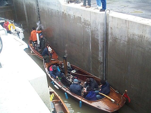 Boats in Lock on Union Canal near the Falkirk Wheel