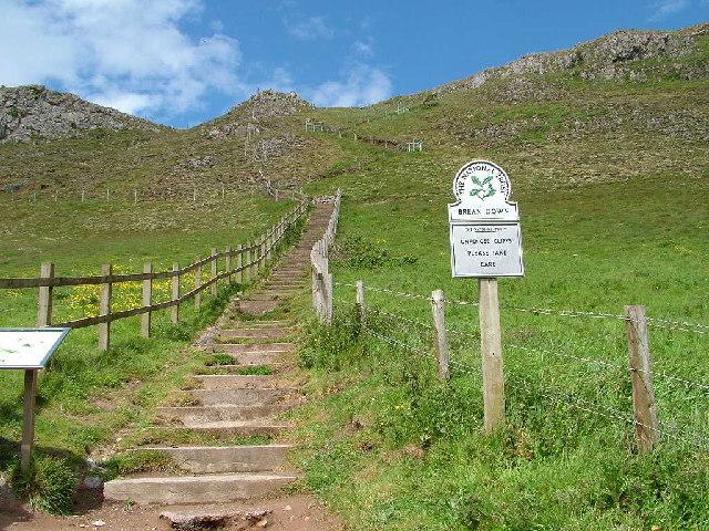 Brean Down steps