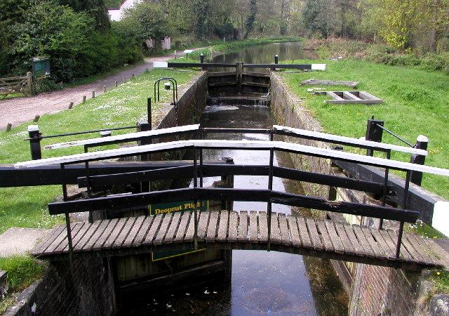 The Basingstoke Canal at Brookwood