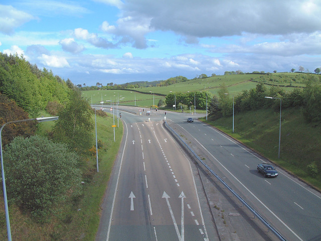 Bridge over A54 at Kelsall Hill
