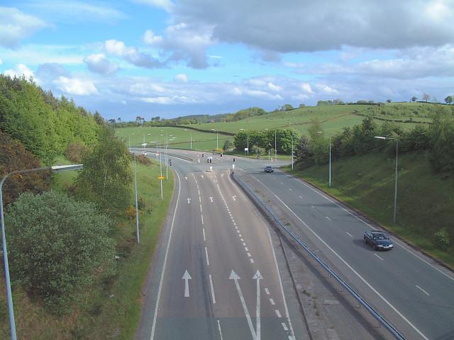 Bridge over A54 at Kelsall Hill