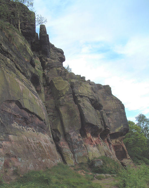 Sandstone Outcrop on Helsby Hill