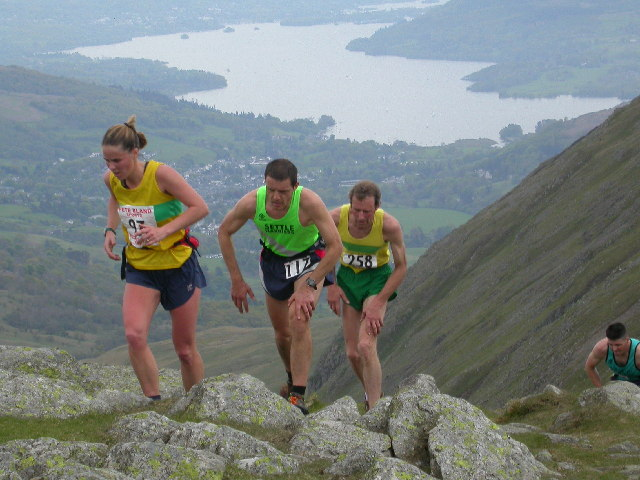 Fell Runners on Great Rigg