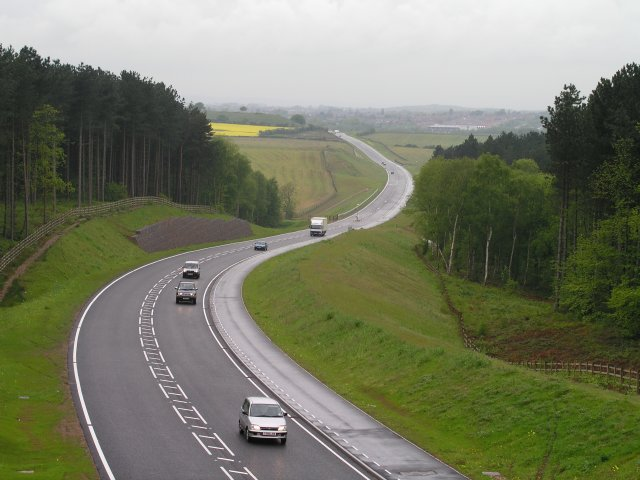 New Road Through Countryside