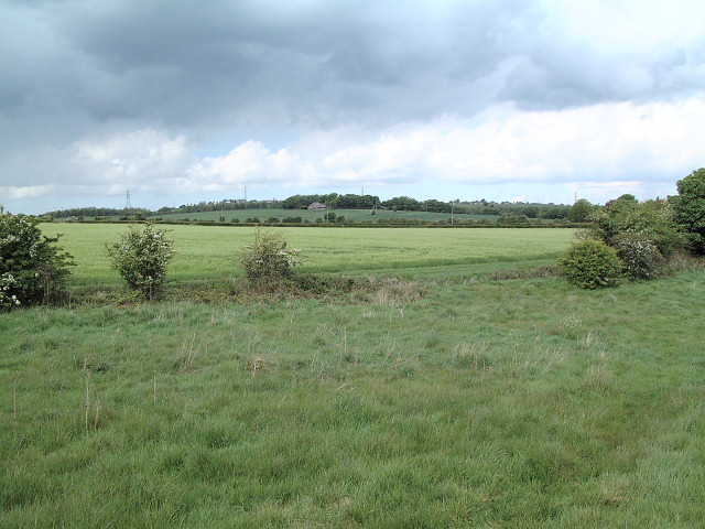 Farmland to the west of Upholland High School