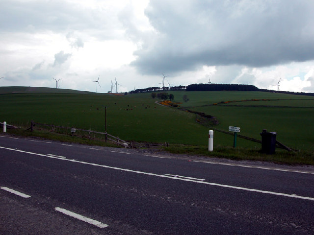 The A96 between Huntly and Inverurie