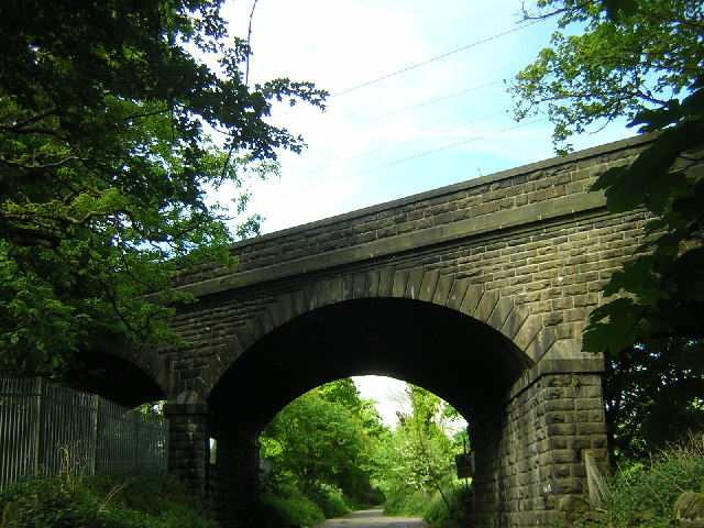 Airedale Railway Line crossing over Gill Lane, Yeadon