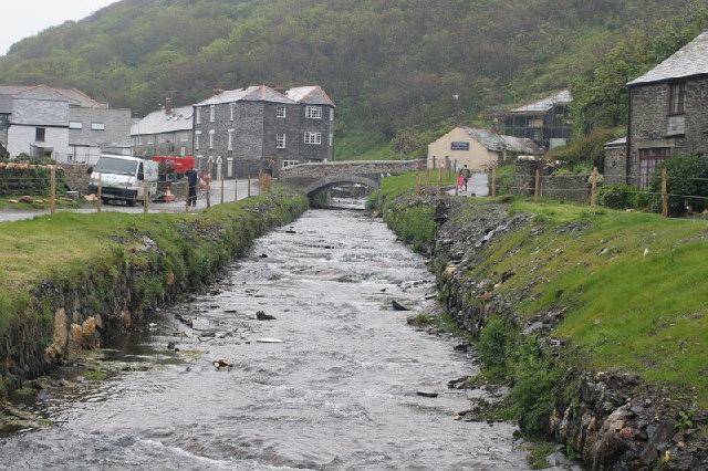 The river in Boscastle