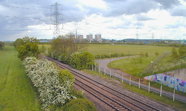 Railway near M1 J24A