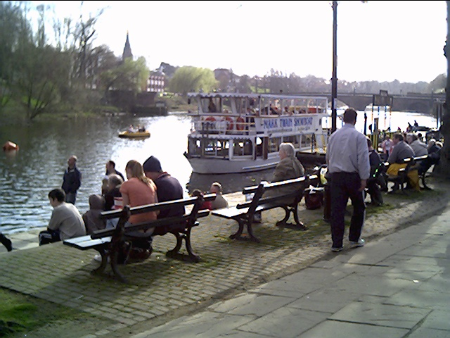 Pleasure Boats at the Groves, Chester