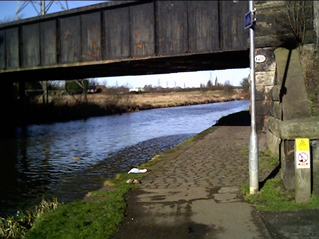 Under the disused railway bridge on the Shropshire Union Canal