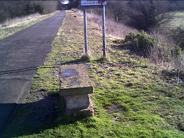 The England/Wales Border on the Millennium Cycleway