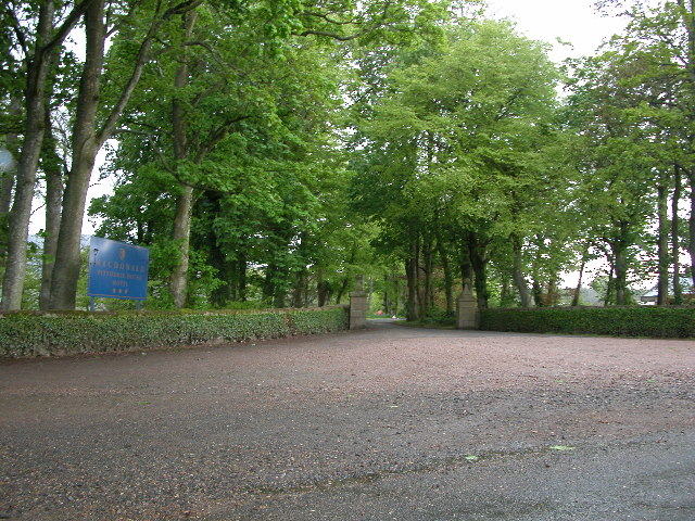 The driveway to Pittodrie House Hotel