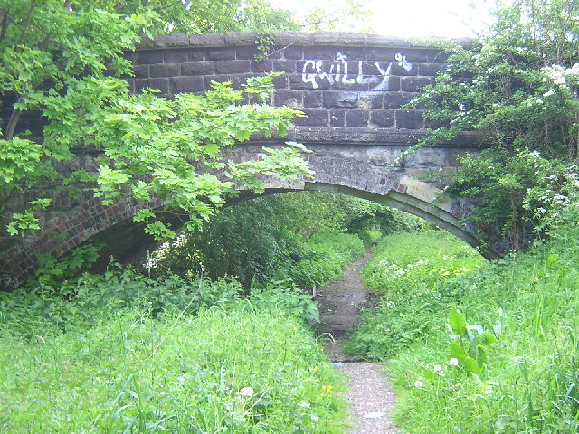 Dismantled Railway Line under St Johns Road, Yeadon