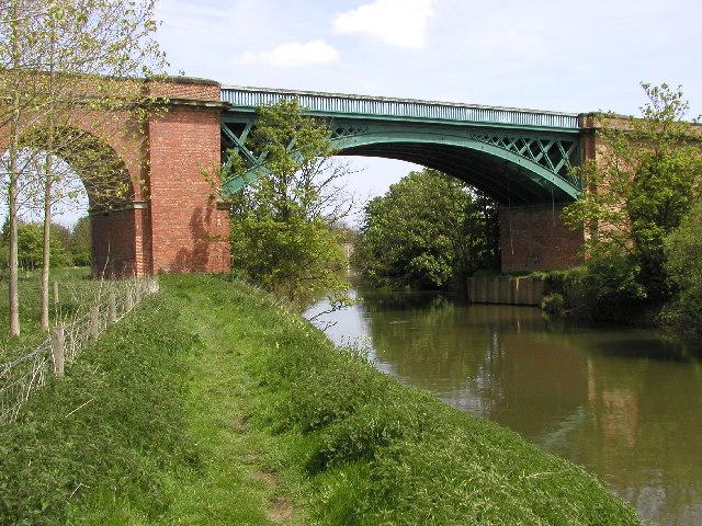 The railway bridge at Stamford Bridge