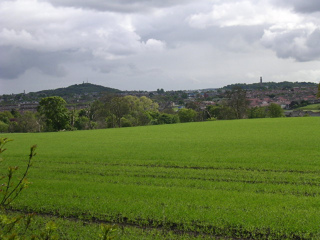 Farmland to the north of Dundee
