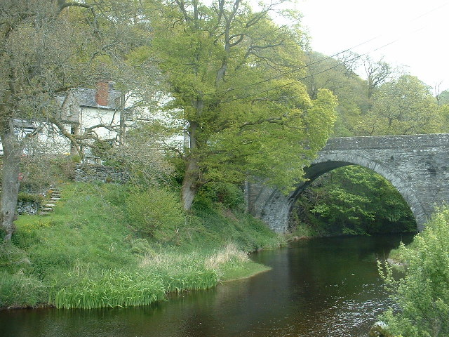 The Afon Alwen at Llanfihangel Glyn Myfyr