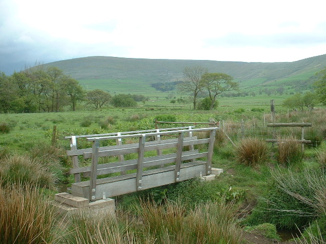 Footbridge near Upper Brock Mill