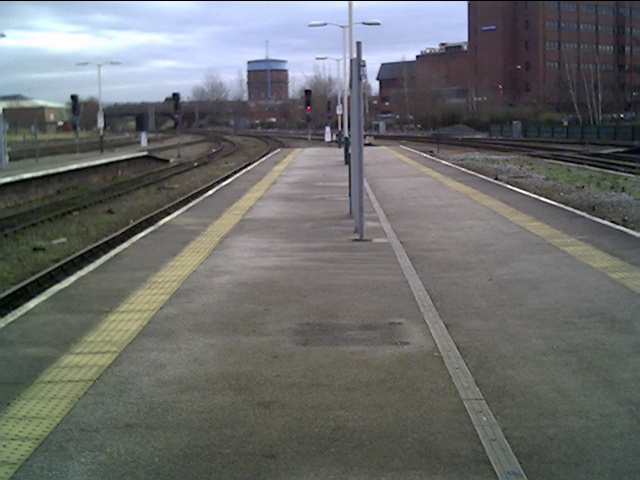 Chester Station looking towards the Water Tower in Boughton