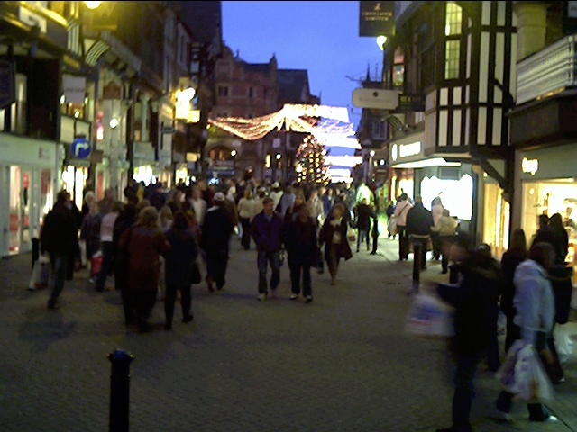 Eastgate Street, Chester, Looking towards the Cross