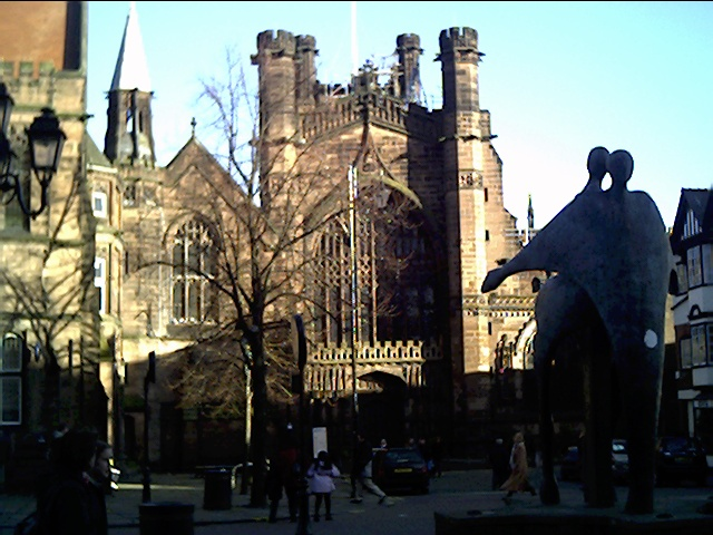 Chester Cathedral from Northgate Street