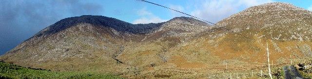 Maumturk Mountains, Panorama