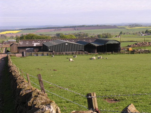 Huntingfaulds farm near Tealing
