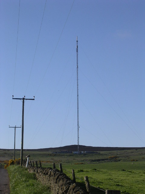 Transmitter mast on Gallow Hill