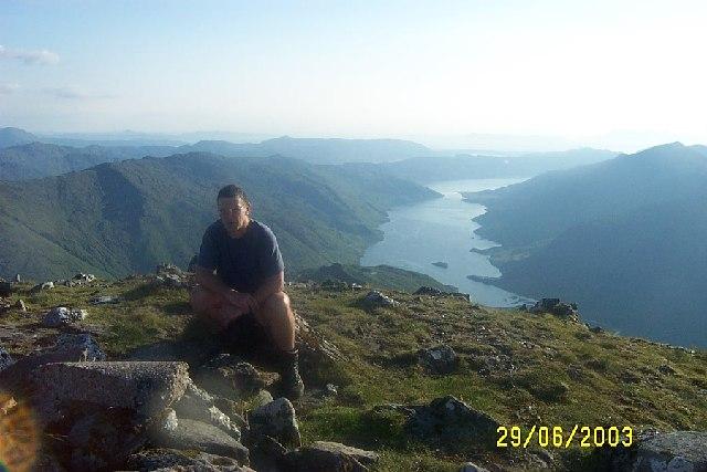 Loch Nevis from summit of Sgurr na Ciche