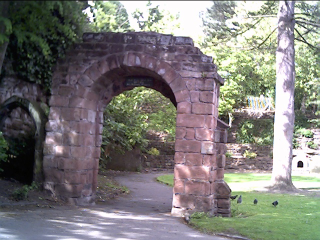 Old Arch removed from St. Michael's Church