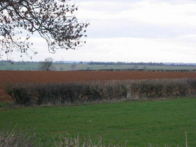 Farmland above Horley