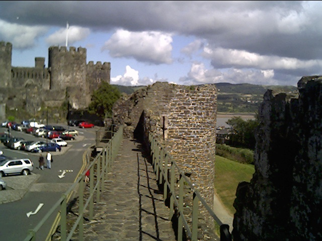 Conwy Town Walls near the Castle