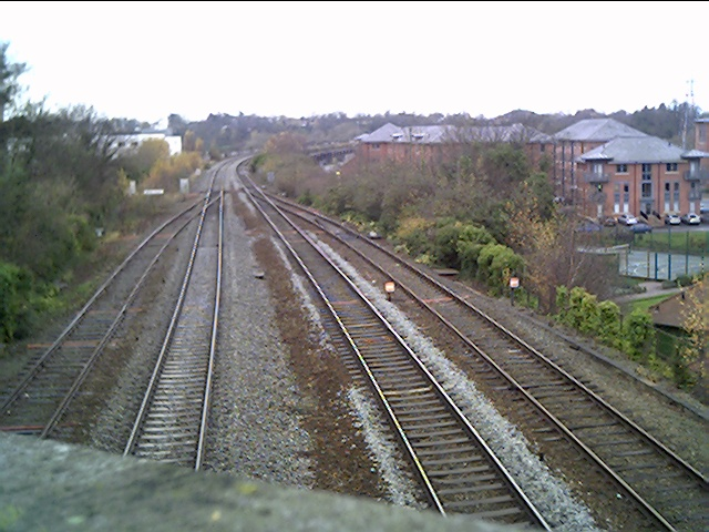 Chester to Holyhead Railway Line from Bonewaldesthorne's Tower
