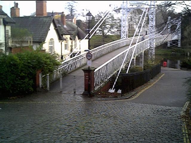 The start of the Suspension Bridge