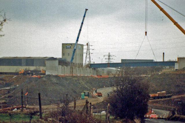 New M65 bridge at Davyfield, Roman Road, Eccleshill