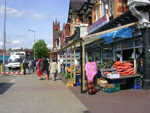 Cheetham Hill Road, Cheetham Hill, Manchester, another view.