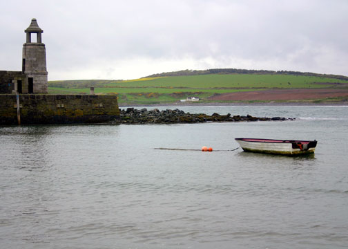 Boat in Port Logan Harbour