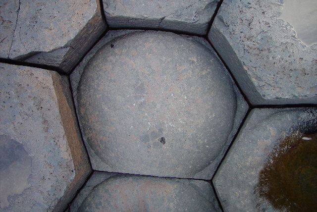 Nicely shaped stone in the Giant's Causeway