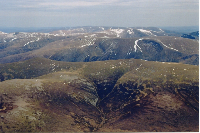 The Cairngorms from Coire Ghorm a'Chrom-Alltain