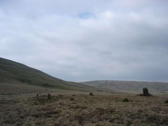 Cerrig Duon Stone Circle with Maen Mawr Standing Stone
