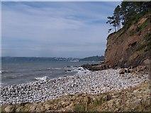 SN1606 : Saundersfoot Bay from Amroth Beach by Garth Newton