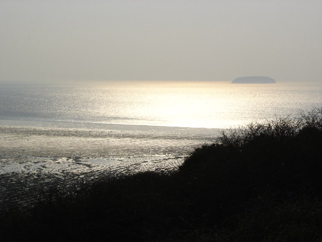 Steep Holm[e] from Brean Down