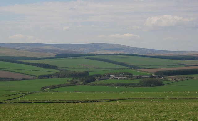 Farmland above Cowbraehill