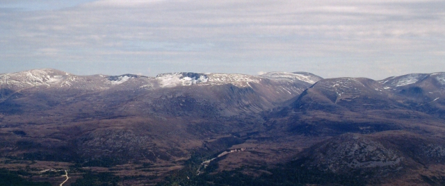 Lairig Ghru from above Cadha Beag