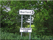 SP2962 : Flatrabbit Lane by David Stowell