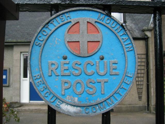 Mountain rescue post