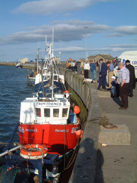 Unloading the fish - Amble